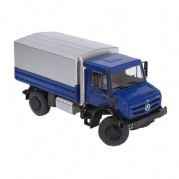 NZG MERCEDES BENZ UNIMOG U5000 with tarpaulin in Blue
